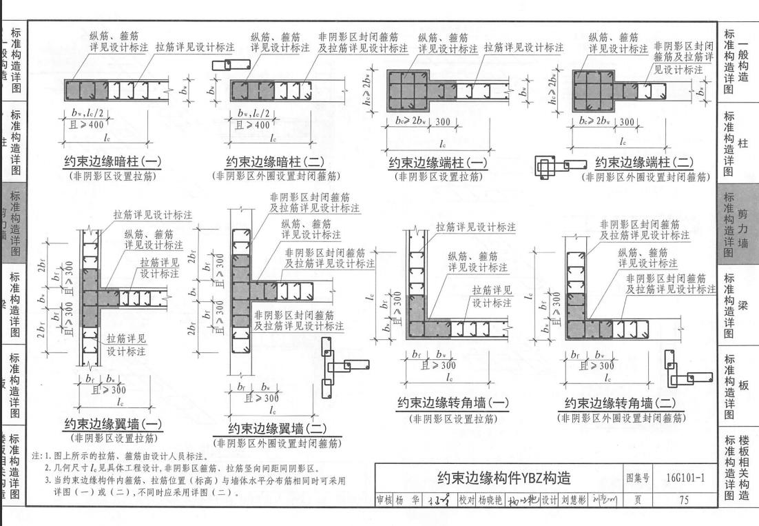 剪力墙中约束边缘构件和构造边缘构件的区别 4